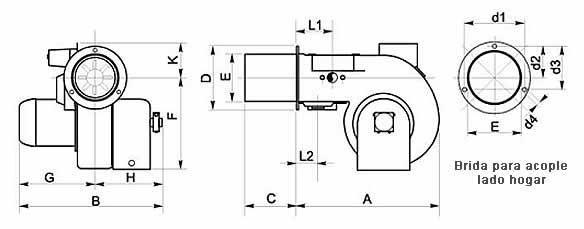 Quemador monotobera - Modelo B-2