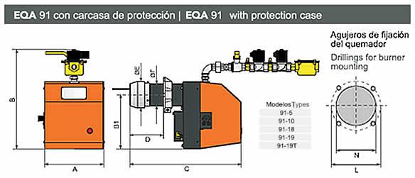 Quemador monotobera eqa 91-1